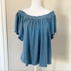Sundry Off the Shoulder Short Sleeve Top NWT
